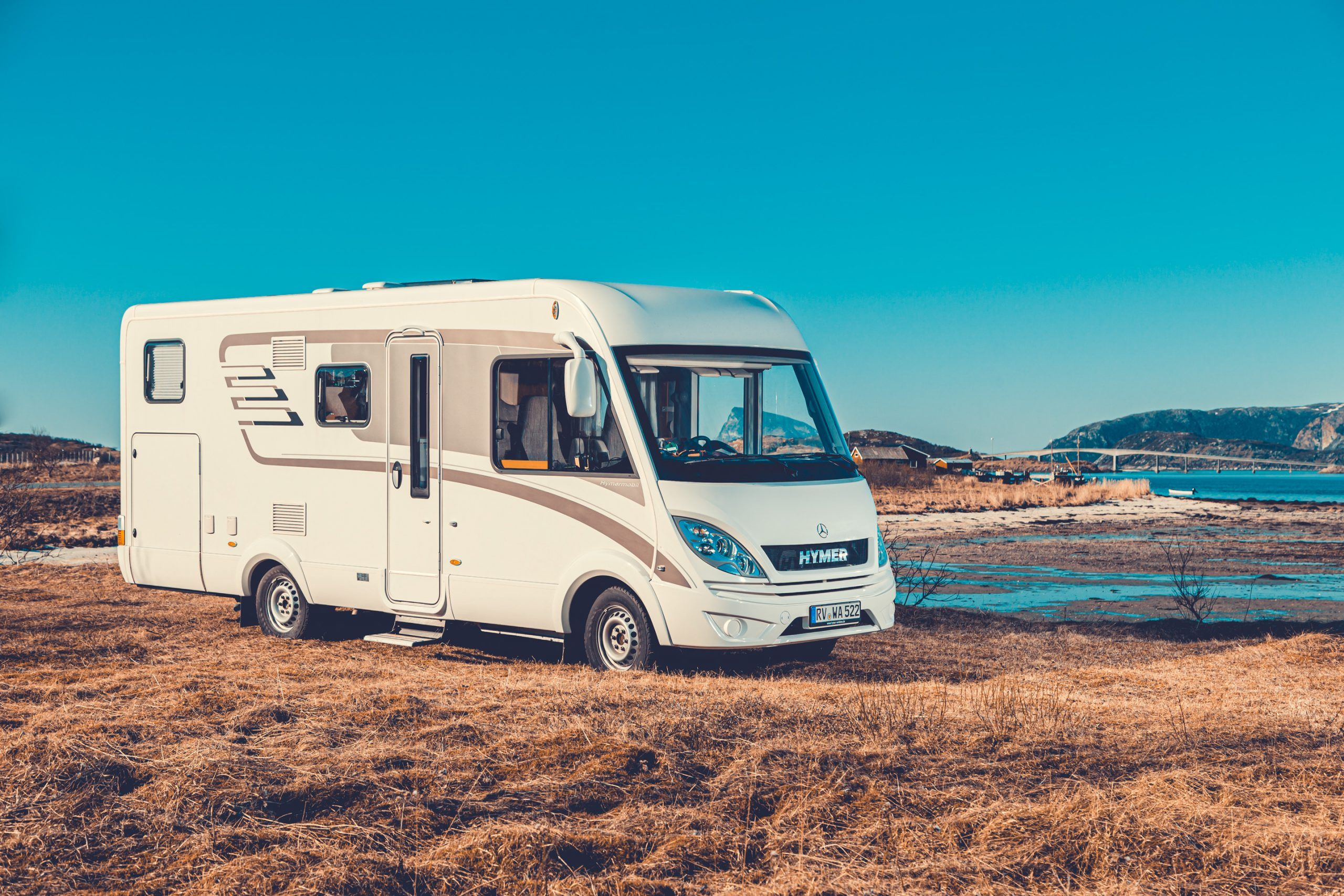 Hymer Automotive Wohnmobil Fotografie in Sommarøy - Norwegen